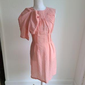 BCBG Max Azria Runway Pink Ruffled Mini Dress 0